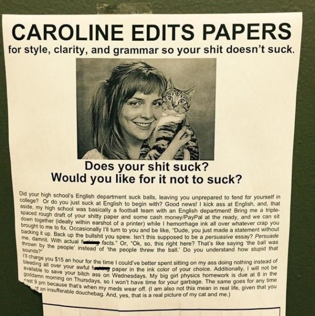 Caroline, please edit this blog for $15 an hour.